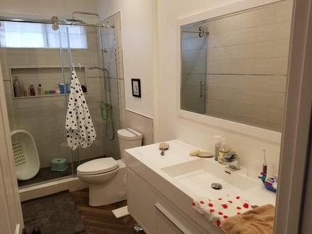 shower door and tiles