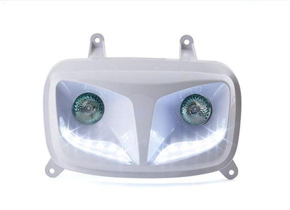 Doble óptica STR8 Eyes Lights White MBK Booster / BW's ap'04