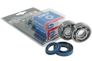 Kit rodamientos y retenes espía Stage6 C4 caja de acero Piaggio NRG / Gilera Sta