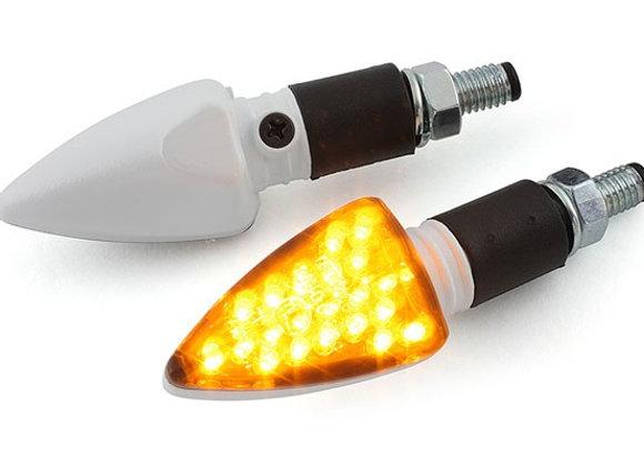 "Indicadores STR8 (par) LED ""Black Line"" blanco"