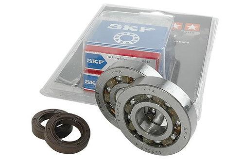Kit rodamientos y retenes espía Stage6 C4 de jaula de polímero Piaggio NRG / Gil