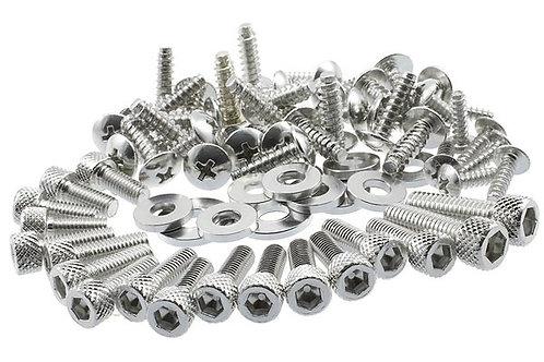 "Kit de herrajes para carenado aluminio / cromo ""DECO"" STR8 MBK Nitro / Aerox"