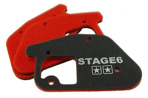 """Stage6 """"ESPONJA DOBLE"""" espuma de caja de aire vertical Minarelli vertical (MBK B"""