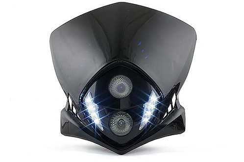 Cabezal de horquilla LED STR8 Enduro Duke II, negro