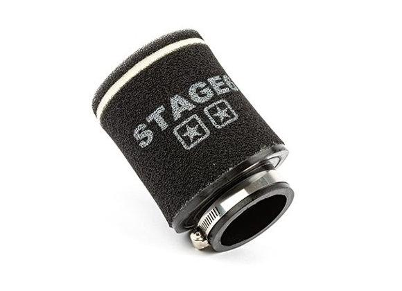 "Filtro de aire grande Stage6 ""Racing Small"" D.70mm doble espuma redondo negro"