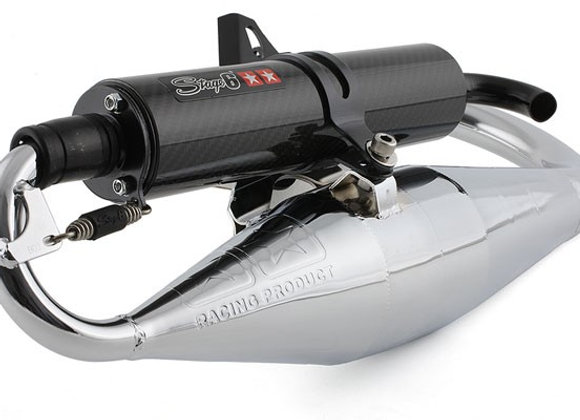 Stage6 Pro Replica cromo / escape de carbono MBK Booster / Stunt aprobado