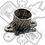 Thumbnail: Adaptador de brida universal MXS GP 90 Mbk Nitro / Aerox