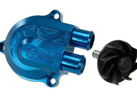 """Stage6 tapa de la bomba de agua anodizada azul + voluta """"RACING"""" presión HT + 40"""
