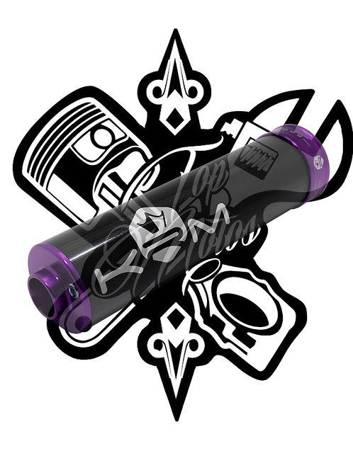 Silencioso KRM 70-90cc alu violeta 2019