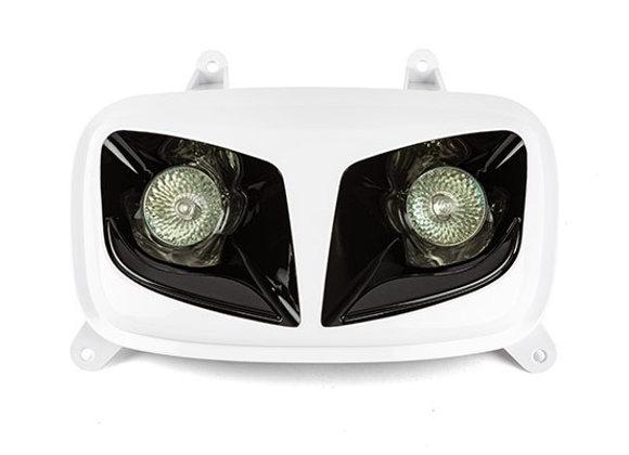 Doble óptica R8 blanco / negro MBK MBK Booster / Bw's ap.04