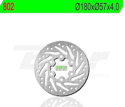 Disco de freno NG 802 Ø180 x Ø57 x 4