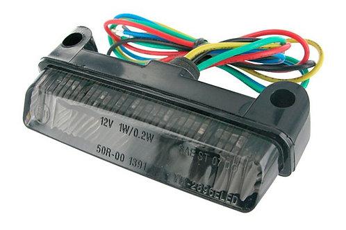 Luz trasera e indicadores 78x16x32mm STR8 Mini LED CE aprobado, negro