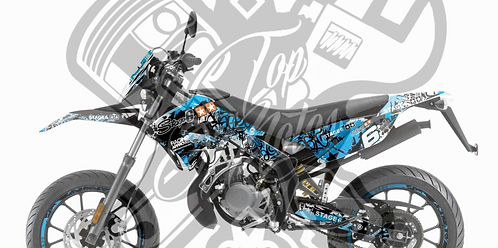 Kit gráfico Stage6 Derbi X-Treme / X-Race azul - negro