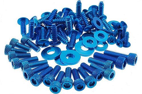 """Kit de tornillos de carenado STR8 """"DECO"""" Azul anodizado MBK Nitro / Aerox"""