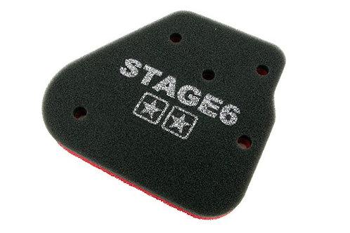Original Stage6 DOBLE ESPONJA CPI / Keeway espuma de filtro de aire de 2 tiempos