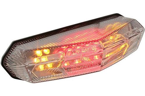 Luz trasera universal STR8 con LED, freno e indicadores indicadores 15x8.5cm