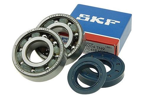 Kit rodamientos y retenes espía Stage6 C4 polímero jaula MBK Nitro / Booster