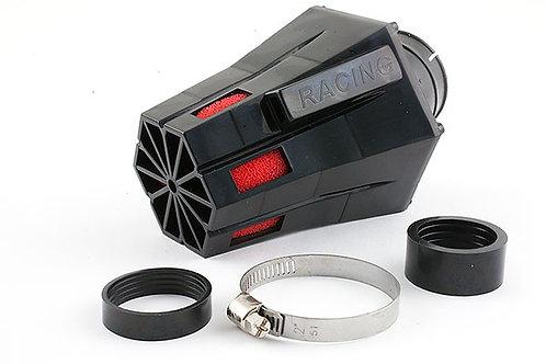 Filtro de aire STR8 D28-35 Evo angulado 30 ° espuma negra / roja