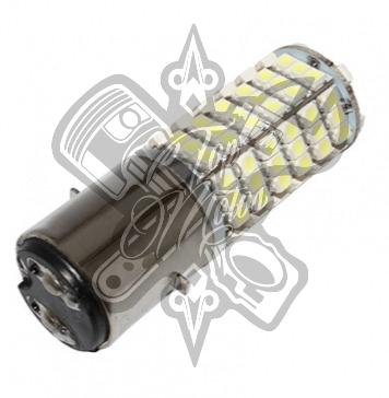BOMBILLA / LÁMPARA 12V A LEDS 3W 300 LUMENS 120SMD 8000> 10000K BASE BA20D ILUMI