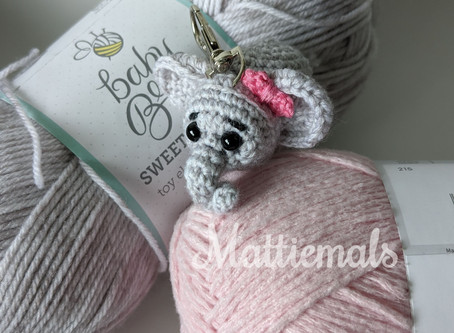 Baby Elephant Free Crochet Key Chain Pattern