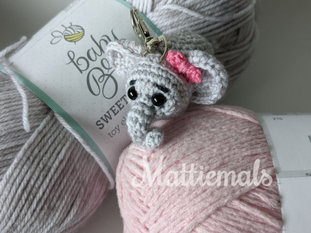 Baby Elephant Free Crochet Key Chain Pattern