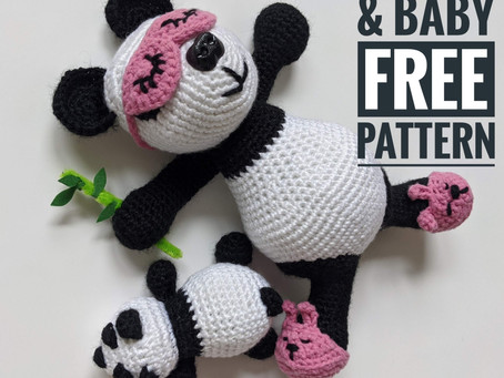 Manda Panda & Baby Crochet Pattern