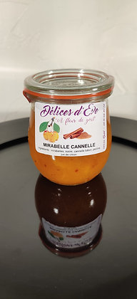Mirabelle d'Alsace et cannelle