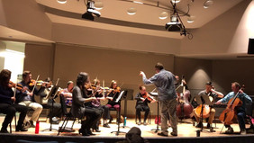 In Rehersal with Kevin Mallon and string orchestra. *short excerpt*