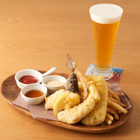 ビール衣の東京フィッシュ&チップス