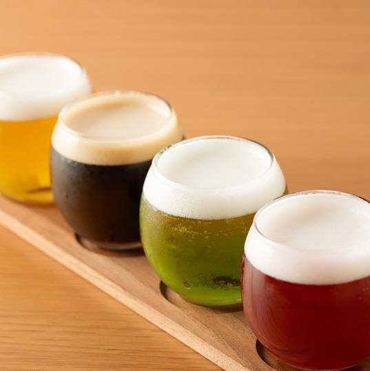 4種のビール飲み比べ