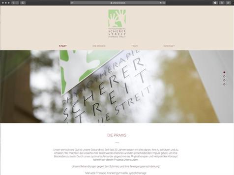 webdesign scherer streit physiotherapy