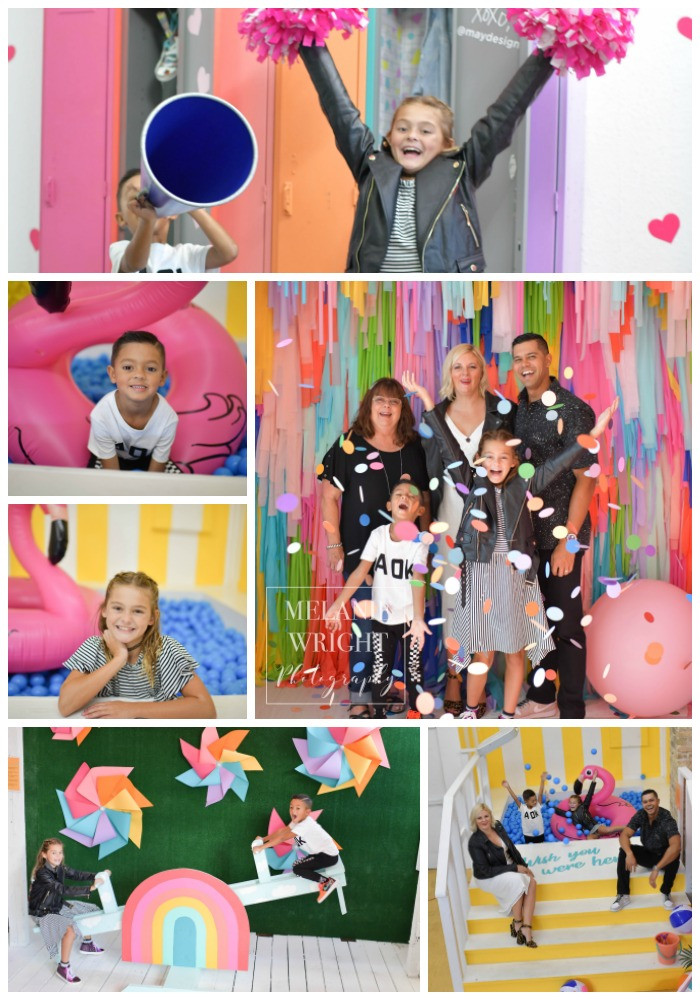 Contemporary Portraits for Family Photos with so much color and fun!