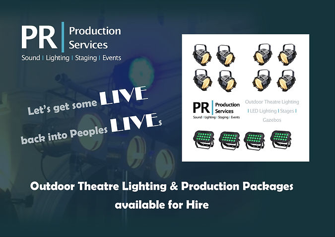 Outdoor Theatre Lighting Hire & Production Packages