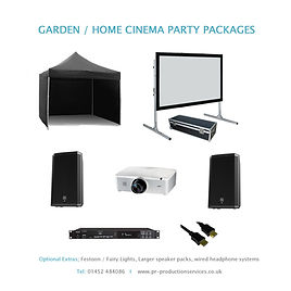 Home Cinema Projection Hire, Gloucester, Cheltenham, Stroud