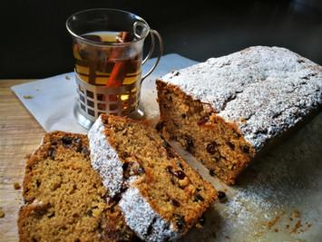 עוגת פירות מיובשים וארל-גריי
