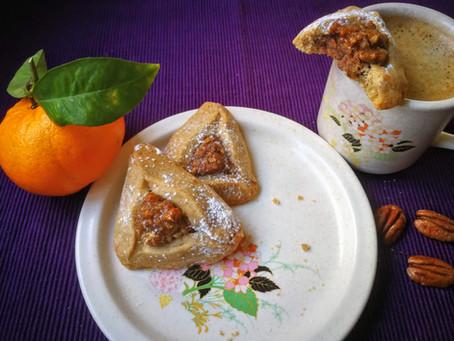 אזני המן בטעם קפה עם מלית פקאנים ותפוז