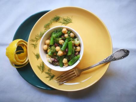סלט שלוש הקטניות - The three beans salad