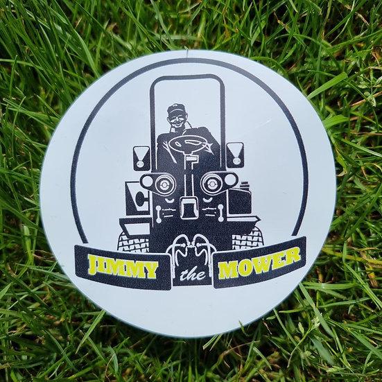 Jimmy the Mower Sticker