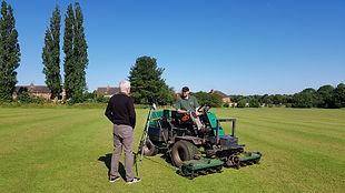 John Bray & Jimmy the mower BBC Midlands