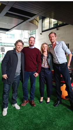 John Bishop Gabby Logan Peter Crouch