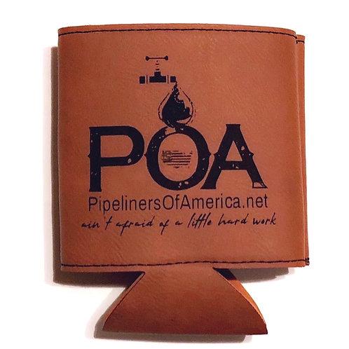 POA Leather Koozie