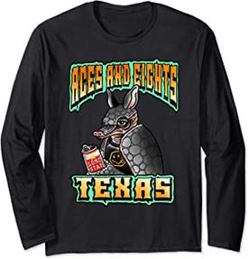 Aces & Eights Barbershop Punk Rock Armadillo Long Sleeve Shirt