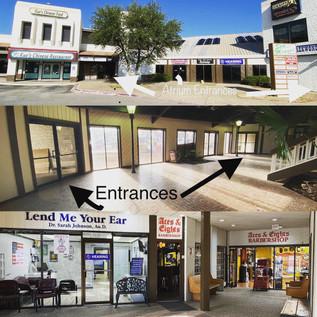 Aces & Eights Barbershop Entrances