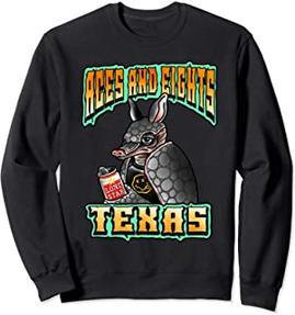 Aces & Eights Barbershop Punk Rock Armadillo Sweatshirt