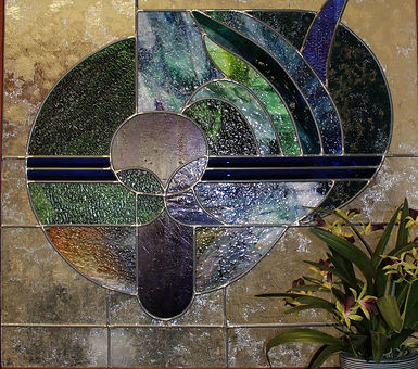 Monterey Health Center in Milwaukie Oregon office stained glass art