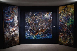 The Narrenschiff Triptych, oil on linen, 2009