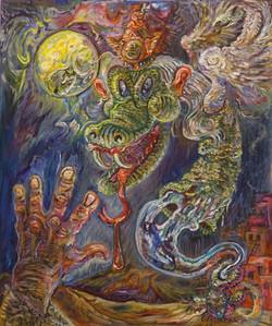 Snakebite Shaman, Oil on Linen.jpg