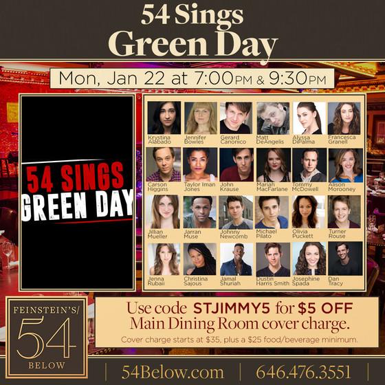 Singing Green Day at 54 Below!