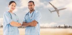 Nurses and Aeroplane