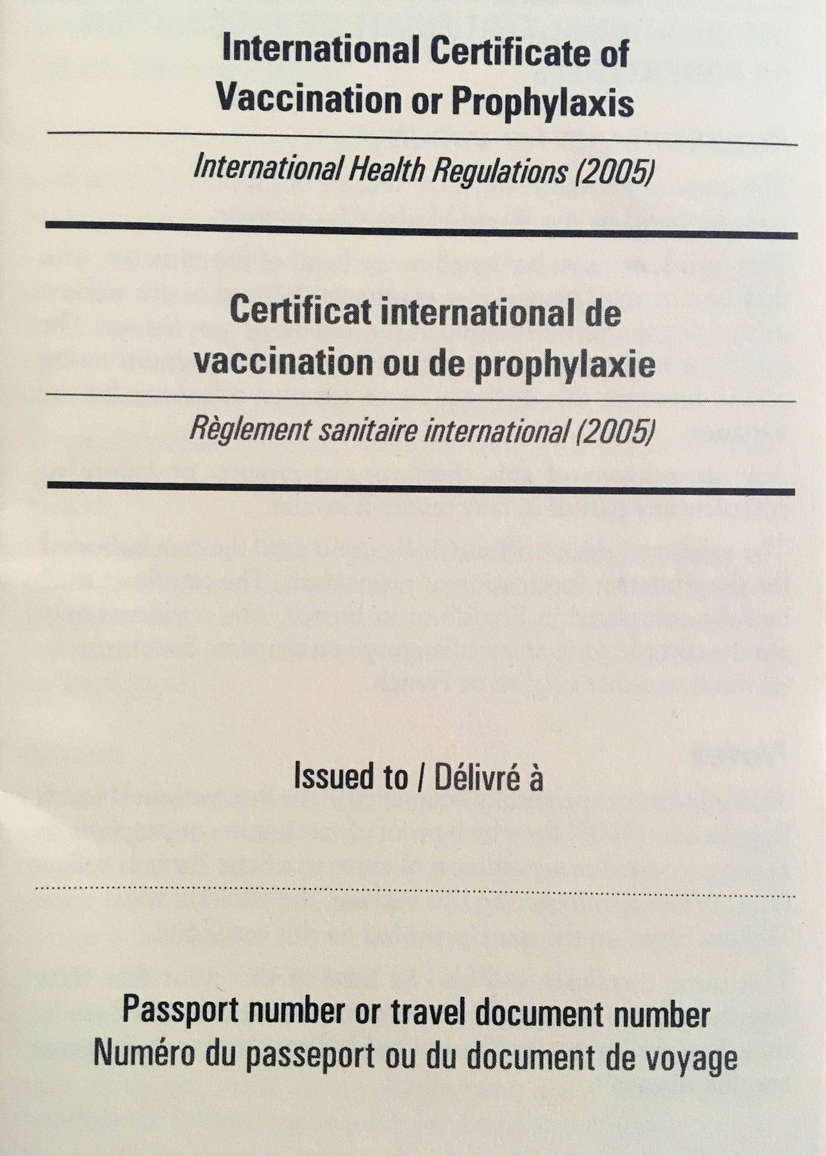FlyingMedicine Yellow Fever Certificate